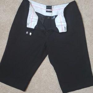 Black Bermuda dress shorts